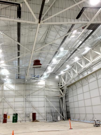 CoRayVac: Aircraft hangar